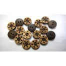"THE TELEPHONE - 2 Hole COCONUT SHELL Button - Sewing Scrapbook DIY - 13 mm (1/2"") - Size Ligne 20"