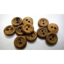 "THE ROUNDABOUT - 2 Hole Wood Wooden Button - Sewing Scrapbook DIY - 14 mm (9/16th"") - Size Ligne 22"