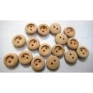 "THE UNDERDOG - 2 Hole Wood Wooden Button - Sewing Scrapbook DIY - 13 mm (1/2"") - Size Ligne 20"