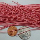 ROSE PINK MATT - 150 Inches French Metal Wire Gimp Coil Bullion Purl - Smooth Regular - 3.80 Meters