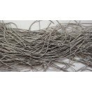 ANTIQUE SILVER GRAY MATT - 150 Inches French Metal Wire Gimp Coil Bullion Purl - Smooth Regular - 3.80 Meters