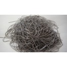 SILVER GRAY - 150 Inches French Metal Wire Gimp Coil Bullion Purl - Smooth Regular - 3.80 Meters