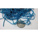BLUE - 120 Inches French Metal Wire Gimp Coil Bullion Purl - Thick Smooth Regular - 3 Meters