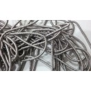 LIGHT GRAY - 120 Inches French Metal Wire Gimp Coil Bullion Purl - Thick Smooth Regular - 3 Meters