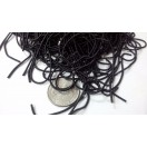 BLACK - 120 Inches French Metal Wire Gimp Coil Bullion Purl - Thick Smooth Regular - 3 Meters