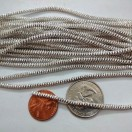 SILVER - 120 Inches French Metal Wire Gimp Coil Bullion Purl - Thick Check Rough - 3 Meters