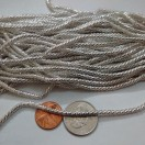 DESIGNER SILVER - 120 Inches French Metal Wire Gimp Coil Bullion Purl - Thick Check Rough - 3 Meters