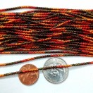 DESIGNER MULTI COLOR - 120 Inches French Metal Wire Gimp Coil Bullion Purl - Thick Check Rough - 3 Meters