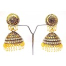 Golden Oxidized Earrings Jhumka Jhumki Jewelry Bollywood Drop Dangle Long S26