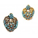 Golden Oxidized Women Earrings Jhumka Jhumki Jewelry Push Back Drop Dangle 49