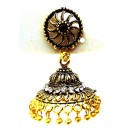 Golden Oxidized Earrings Jhumka Jhumki Bali Jewelry Bollywood Drop Dangle Long E17