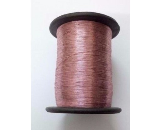 PINK - Spool of Shiny Metallic Thread Yarn - For Crochet Sewing Embroidery Handwork Artwork Jewelry