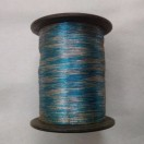 BLUE & SILVER - Spool of Shiny Metallic Thread Yarn - For Crochet Sewing Embroidery Handwork Artwork Jewelry