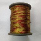 GOLD & RED - Spool of Shiny Metallic Thread Yarn - For Crochet Sewing Embroidery Handwork Artwork Jewelry