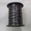 BLACK & SILVER - Spool of Shiny Metallic Thread Yarn - For Crochet Sewing Embroidery Handwork Artwork Jewelry