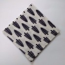 BLACK on WHITE - BLOCK PRINT Tribal - Pure Cotton Pocket Square Handkerchief Hanky - Men Women Unisex - 12""
