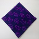 PURPLE - BLOCK PRINT Tribal - Pure Cotton Pocket Square Handkerchief Hanky - Men Women Unisex - 12""