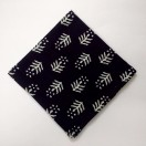 WHITE on BLACK II - BLOCK PRINT Tribal - Pure Cotton Pocket Square Handkerchief Hanky - Men Women Unisex - 12""