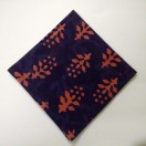 BLUE - BLOCK PRINT Tribal - Pure Cotton Pocket Square Handkerchief Hanky - Men Women Unisex - 12""