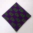 GREEN on BLUE - BLOCK PRINT Tribal - Pure Cotton Pocket Square Handkerchief Hanky - Men Women Unisex - 12""