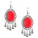 Silver Oxidized Earrings Jhumka Jhumki Bali Imitation Indian Bollywood Ethnic Wedding Jewelry H11