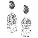 Silver Oxidized Earrings Jhumka Jhumki Bali Imitation Indian Bollywood Ethnic Wedding Jewelry H15