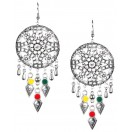 Silver Oxidized Earrings Jhumka Jhumki Bali Imitation Indian Bollywood Ethnic Wedding Jewelry H19