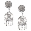 Silver Oxidized Earrings Jhumka Jhumki Bali Imitation Indian Bollywood Ethnic Wedding Jewelry H6