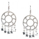 Silver Oxidized Earrings Jhumka Jhumki Bali Imitation Indian Bollywood Ethnic Wedding Jewelry H9