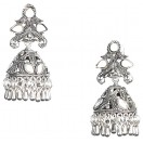 MIRRORS & CHANDELIER Silver Oxidized Earrings Jhumka Jhumki Bali Imitation Indian Bollywood Ethnic Wedding Jewelry H28