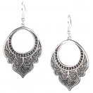HOOP CHANDBALI Silver Oxidized Earrings Jhumka Jhumki Bali Imitation Indian Bollywood Ethnic Wedding Jewelry H36