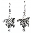 COCONUT PALM TREE Silver Oxidized Earrings Jhumka Jhumki Bali Imitation Indian Bollywood Ethnic Wedding Jewelry H44